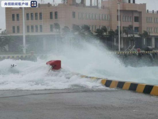 三沙发布台风红色预警 西沙海域阵风达14级