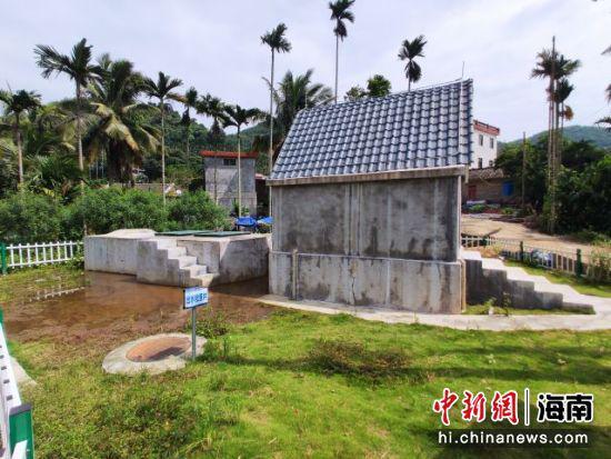 琼海会山镇领着村的污水处理站。吴天军摄