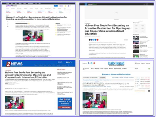 美国哥伦比亚广播公司、芝加哥每日先驱报网、美国雅虎、Market Watch刊文截图。