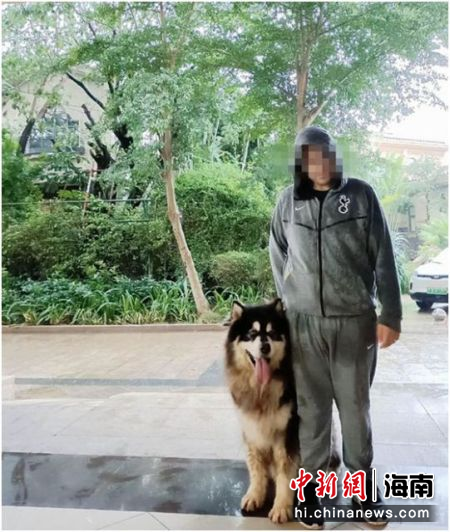爱犬失而复得 外籍友人向三亚民警送锦旗致谢