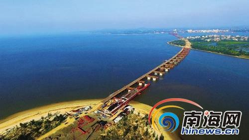 铺前大桥二标段完成总工程量55% 力争明年底建成通车
