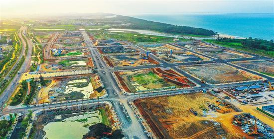 海口江东新区起步区:路网建设现雏形