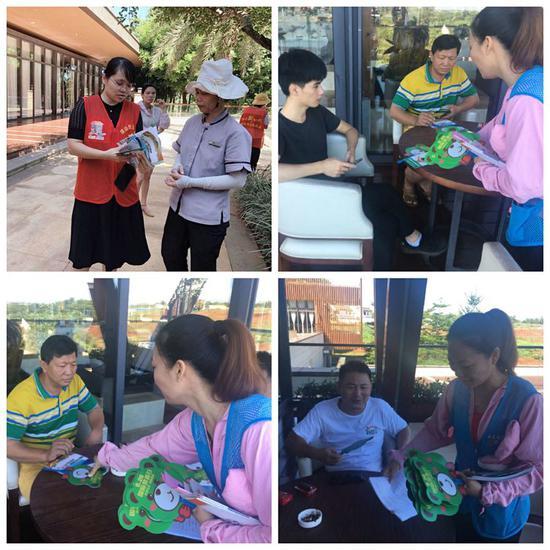 云龙镇开展创建禁毒示范城毒品预防宣传进企业志愿服务活动