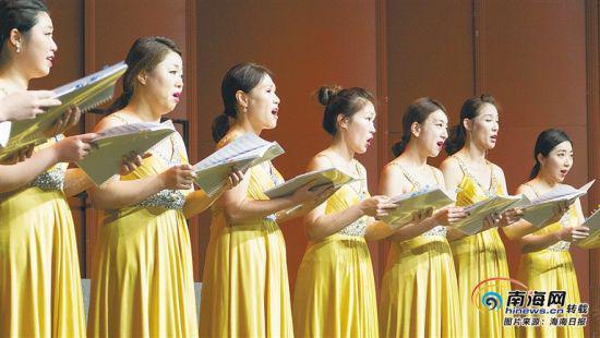 韩国欢乐合唱团在演唱。