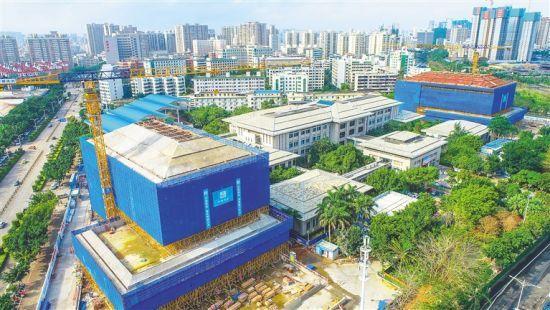 海(hai)南省(sheng)圖書館二期(qi)主體結構完工