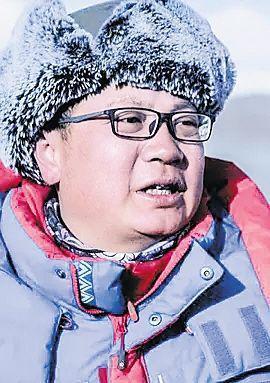 蔡宇在《藏北秘岭》拍摄现场。