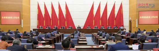 海南省委全面依法治省工作会议召开 沈晓明出席并讲话 冯飞主