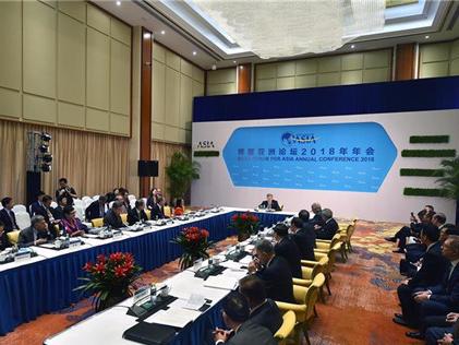 4月9日,博鳌亚洲论坛新一届理事会会议在海南博鳌举行。新华社记者 郭程 摄