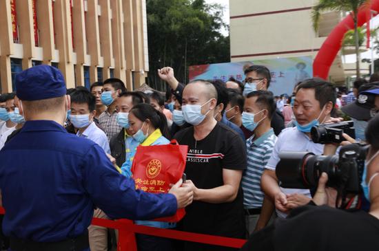 儋州市举办2020年119消防宣传月活动启动仪式