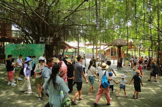 趣味掷色子乐享端午节 黎家三色粽香飘槟榔谷