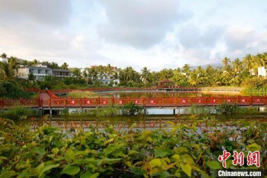 图为海南省三亚市吉阳区黎族村庄博后村,这里已成为远近闻名的旅游村庄。 王晓斌 摄