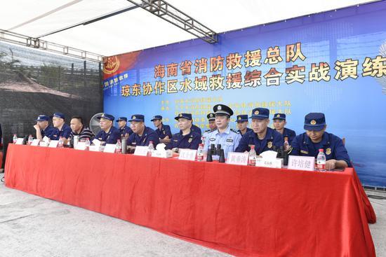 海南省消防总队琼东协作区圆满完成水域救援综合实战演练