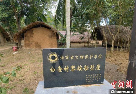 图为海南省东方市江边乡白查村黎族船型屋,该村已于2009年整体搬迁新居,该村整村保存的黎族船型屋已成为海南省文物保护单位。 尹海明 摄
