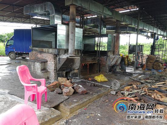 涉事的猪油提炼厂。