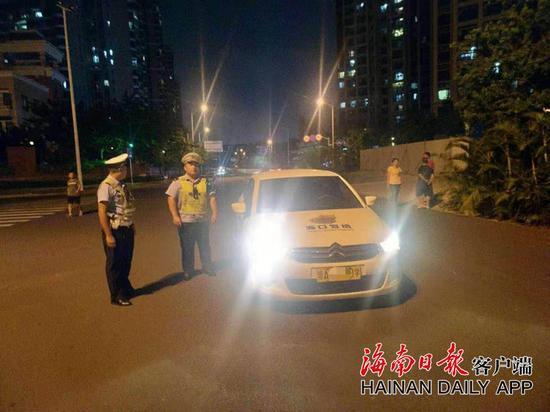 海口交警在全市范围内开展整治行动。通讯员供图