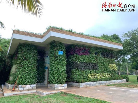高颜值生态厕所亮相海口万绿园: