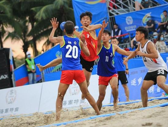 """2020年""""美丽三亚•海南特曲杯""""沙滩手球邀请赛侧记"""