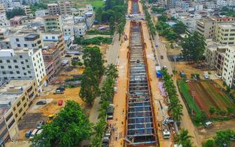 海口地下综合管廊建设 天翔路管廊试运行