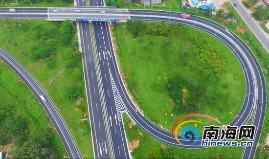 探秘海南g98环岛高速公路藤桥立交互通