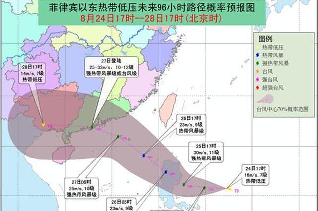 今年第14号台风正在形成 27日或在海南沿海登陆