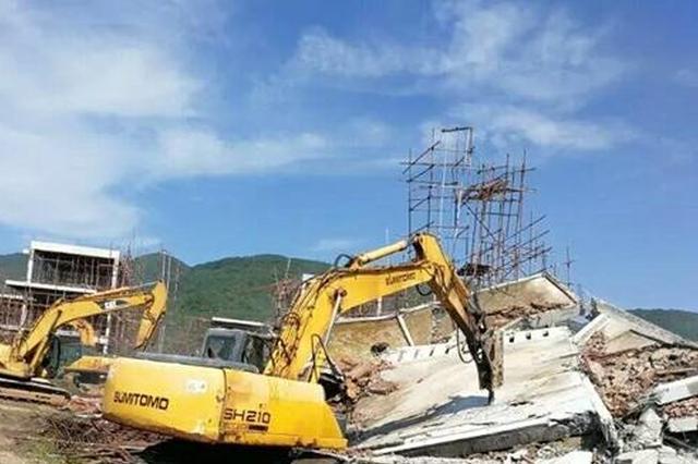 立行立改 万宁依法拆除占用基本农田6幢违建楼房