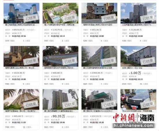 昌江警方拍卖黄鸿发案财产:已成交24.57亿元