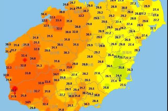 海南明天最高温36℃!下周二强降雨来袭,局地大暴雨