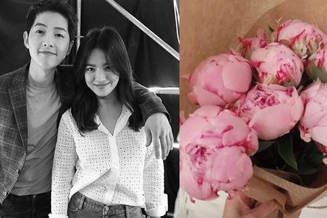 宋慧乔夫妻节晒照获赠鲜花 与宋仲基结婚半年仍甜