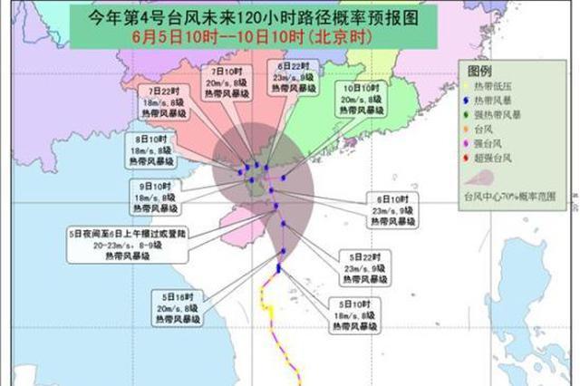 海南省气象台17时继续发布台风三级预警