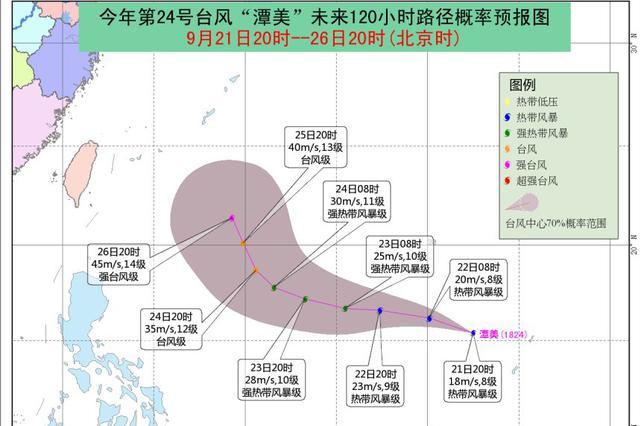 """第24号台风""""潭美""""节假日期间对我国近海无影响"""