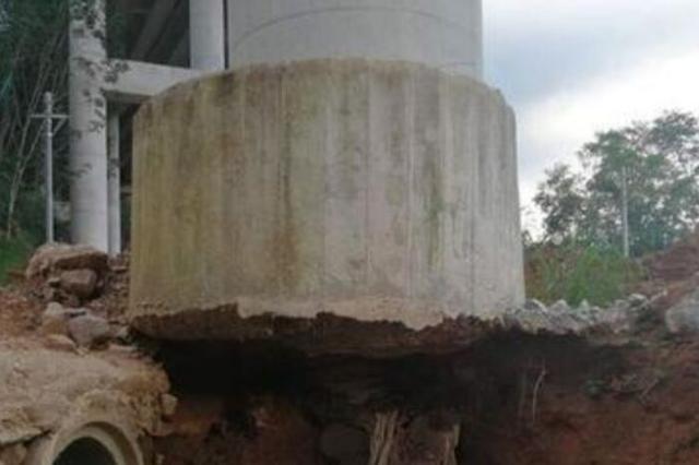 网传琼乐高速南圣河2号桥左幅7号墩下塌陷?谣言!