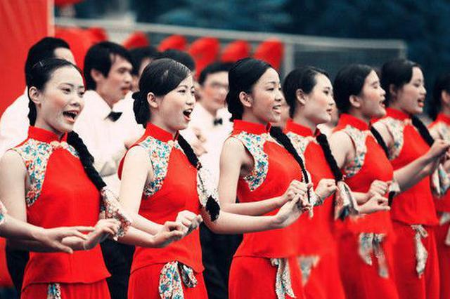 海南儋州:千人调声唱丰收 农民歌舞庆中秋
