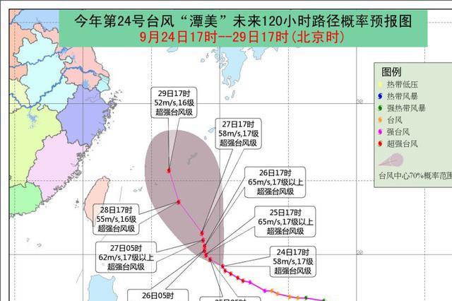 """""""潭美""""加强为今年第5个超强台风 琼岛本周天气总体晴好"""