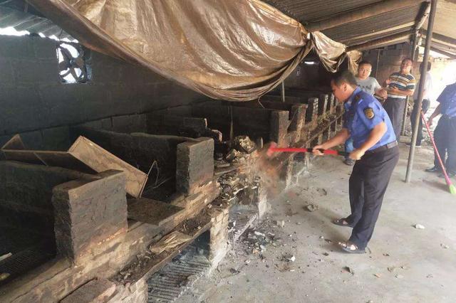 琼海巡查打击烟熏加工槟榔行为 9月以来拆除86处加工点