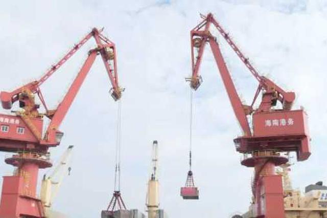 5万吨建筑用砂抵达港口为儋州缓解供需问题