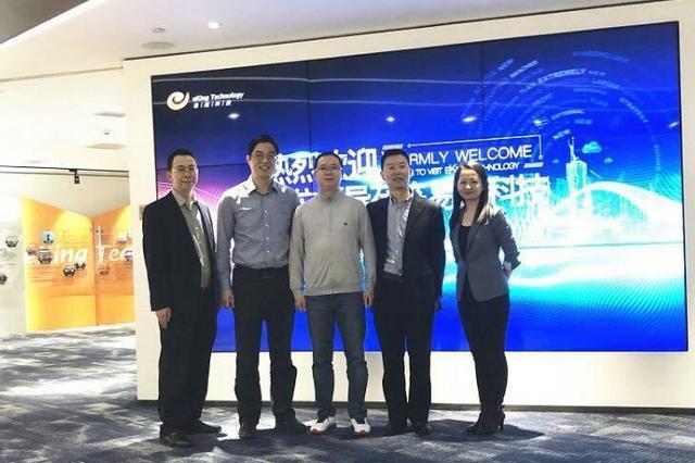 香港中旅科技与易建科技在智慧旅游等领域进行洽谈