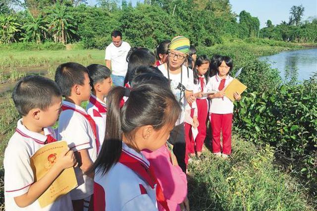 """把湿地搬进校园 海口花式创建""""湿地学校""""(图)"""