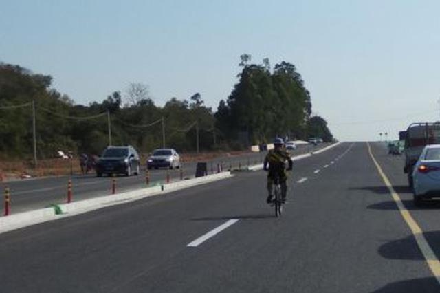 三亚南山景区唯一进出通道拓宽工程功能性通车