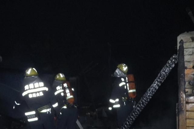 深夜一临高农家乐厨房起火 所幸无人员伤亡