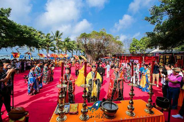 第15届中国三亚龙抬头节在大小洞天举行 万人祭海祈福共庆民俗