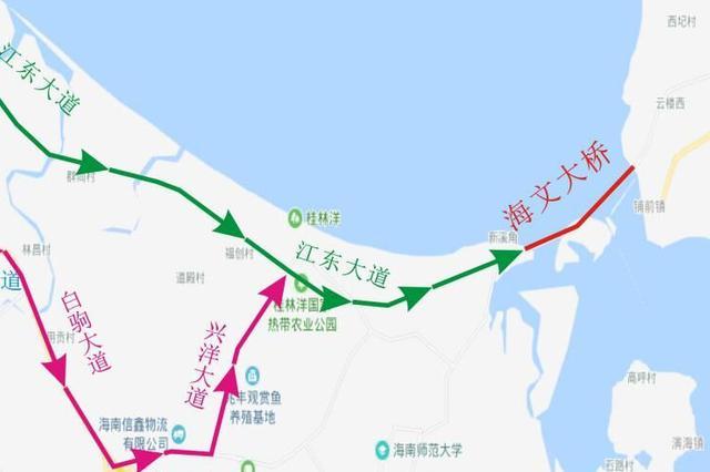 @广大司机 攻略来了!这5条海文大桥过桥线路请收好