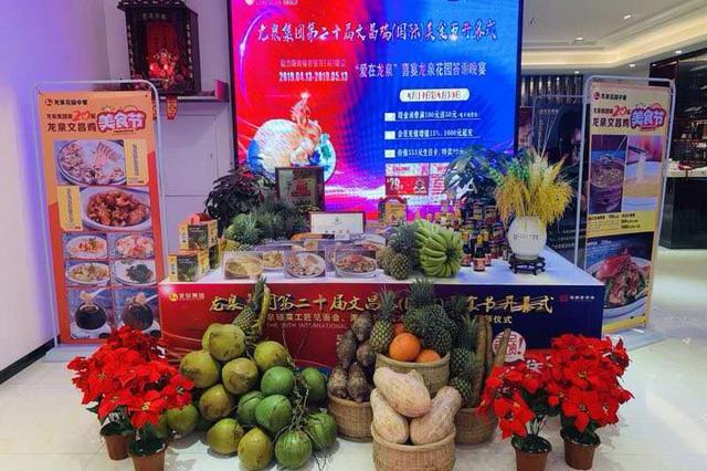 龙泉集团第二十届龙泉文昌鸡(国际)美食节正在进行中
