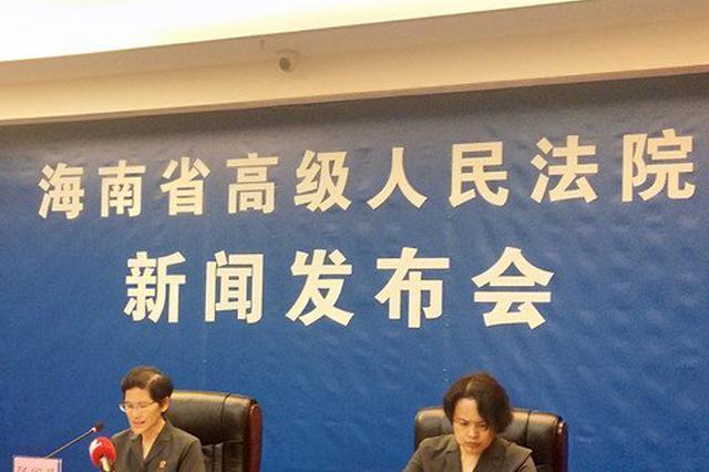 海南高院通报全省法院2018年知识产权司法保护整体情况