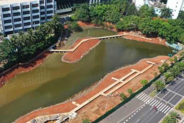 海口鸭尾溪湿地生态系统建设工程示范段7月初完工