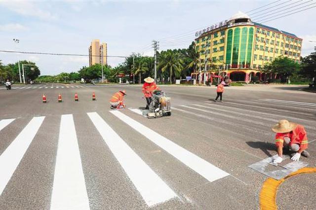 儋州更新交通标识 方便市民出行