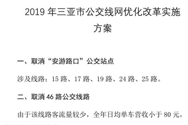 三亚拟开通红塘村委会至饭粒小组等5条公交线路