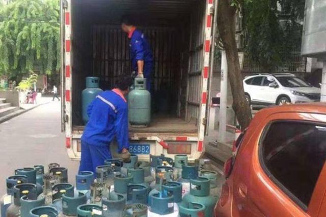 吓!三亚一民房内储存49瓶煤气罐 男子被行政拘留15日