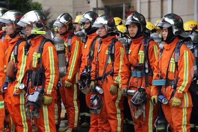 海口146名政府专职消防员入驻消防站 参与灾害处置