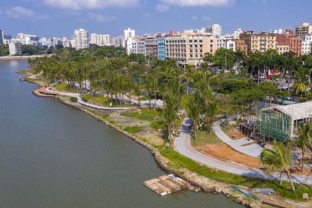 组图 海口红城湖公园南岸预计国庆期间功能性开放