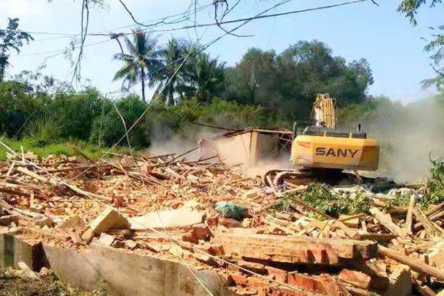 41人违法建设42间房屋 陵水多部门联合强制拆除
